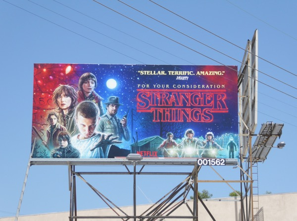 Stranger Things season 1 Emmy fyc billboard