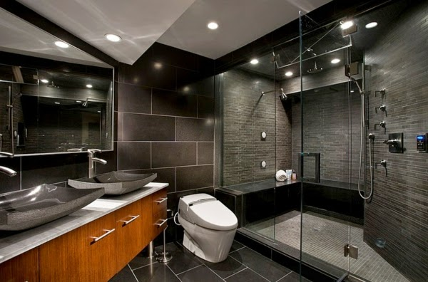 bathroom color schemes with dark colors