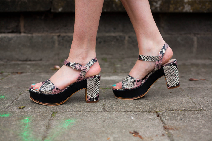 Zinda snakeskin platform sandals