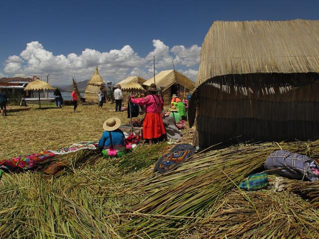 Lago Titicaca en Peru