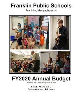 Franklin Public Schools FY 2020 budget book cover