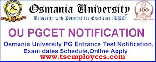OU PGCET 2017 OUCET 2017 OUPG Admission Notification