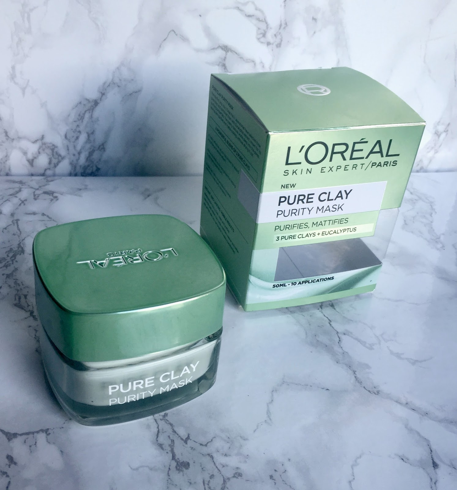 loreal pure clay mask purity detox glow face