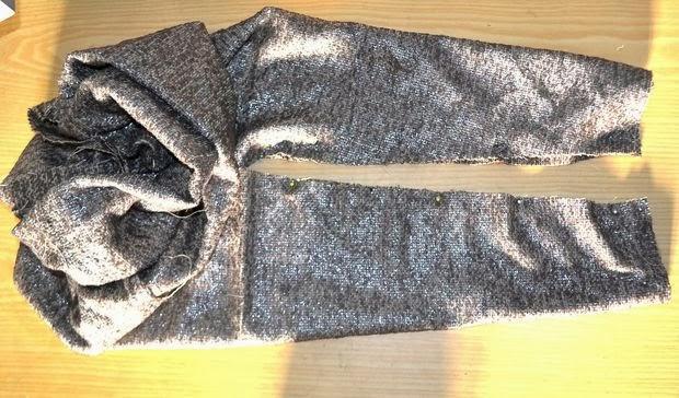 bufanda con mangas o sleeve shrug. Patrón y tutorial