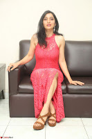 Sakshi Kakkar in Red Legsplit Sleeveless Gown at Dare movie Press meet ~  Exclusive 073.JPG