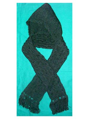 fular tricotat gri iarna