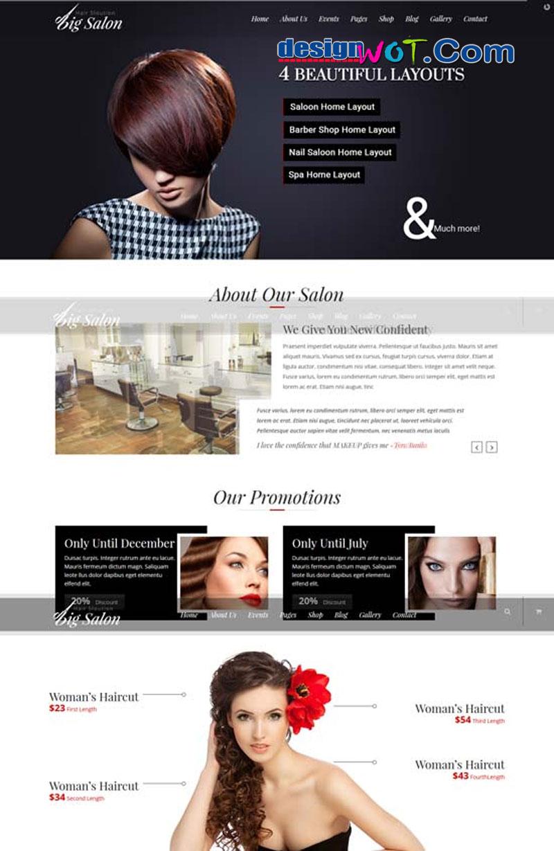 Big Salon - WordPress Theme for Hair Salon, Beauty & Spa Sites
