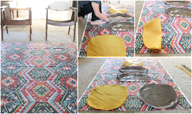 Updating vintage midcentury Eck Adams chairs with fabric from Tonic Living