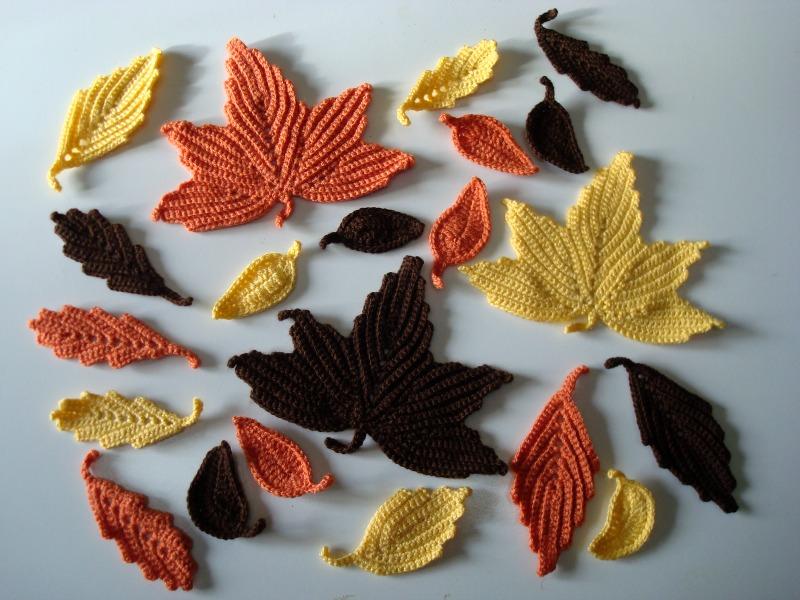 Crocheteando con agarimo: Movil con hojas de otoño
