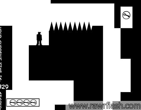 Jogo de plataforma com puzzles para resolver, com uma mecânica diferente.