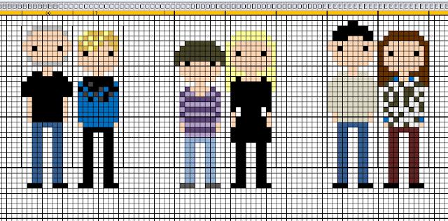 Personen Sticken: Stickvorlage in Excel bauen