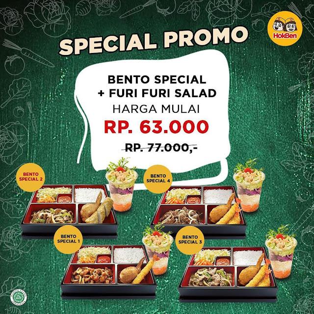 #Hokben - #Promo Bento Special dan Furi-furi Salad Chicken Topping mulai 63K (s.d 7 April 2019)