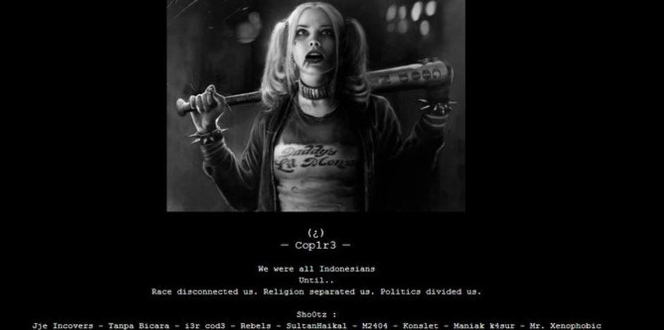 Situs Kejaksaan Agung diretas, muncul Harley Quinn bawa pentungan