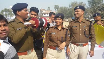 नालंदा पुलिस कप्तान कुमार आशीष ने श्रम कल्याण मैदान में कराया पतंगबाजी का आयोजन