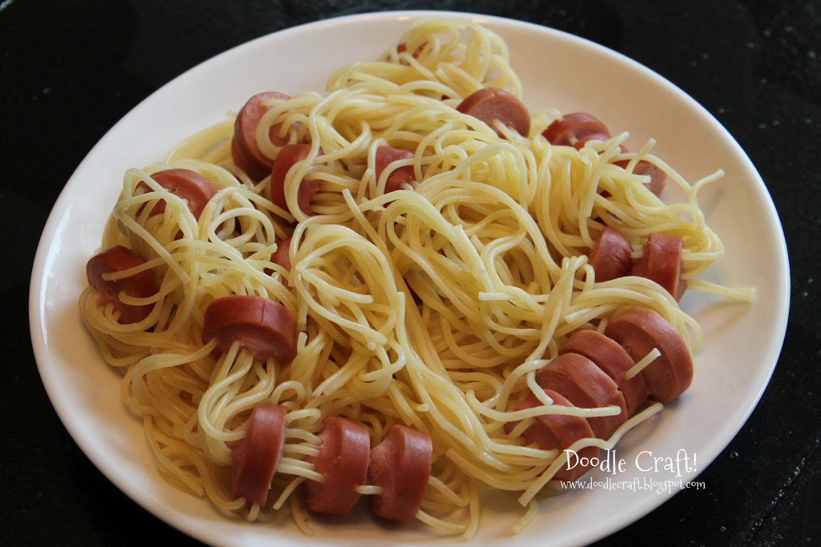 Hot Dog And Spaghetti Spiders
