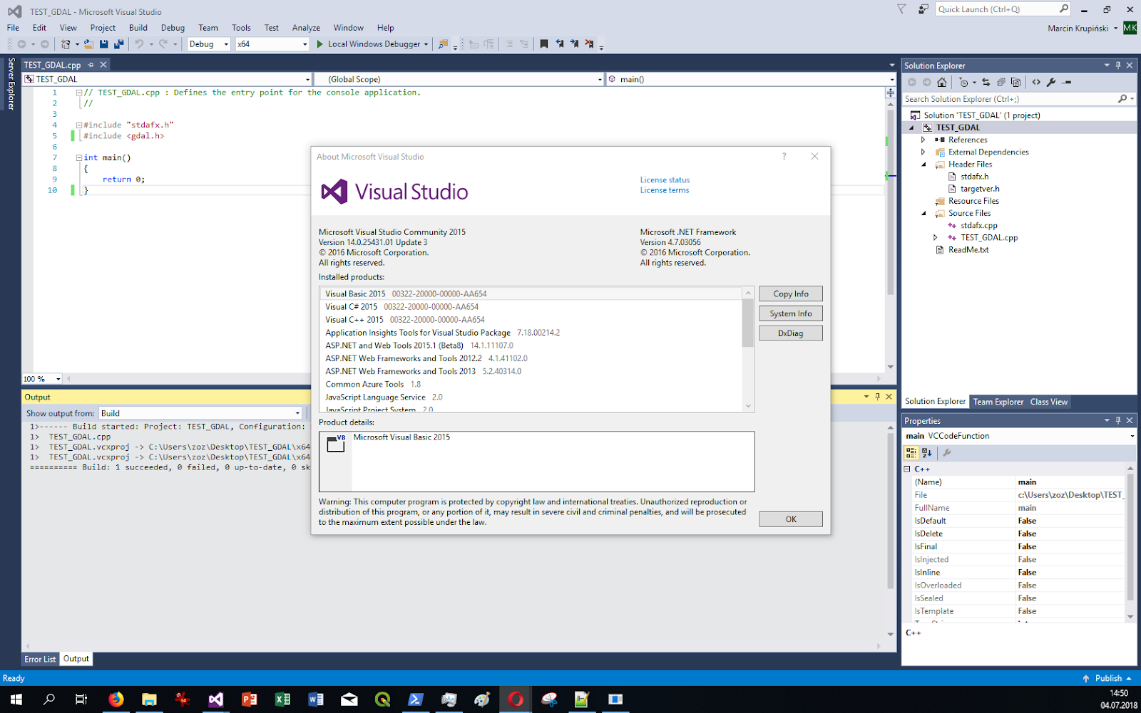 Lazy admin blog: How to build GDAL from source for Visual C++ in