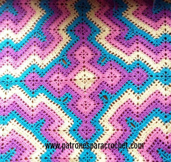 manta crochet diseño Sara Palacios