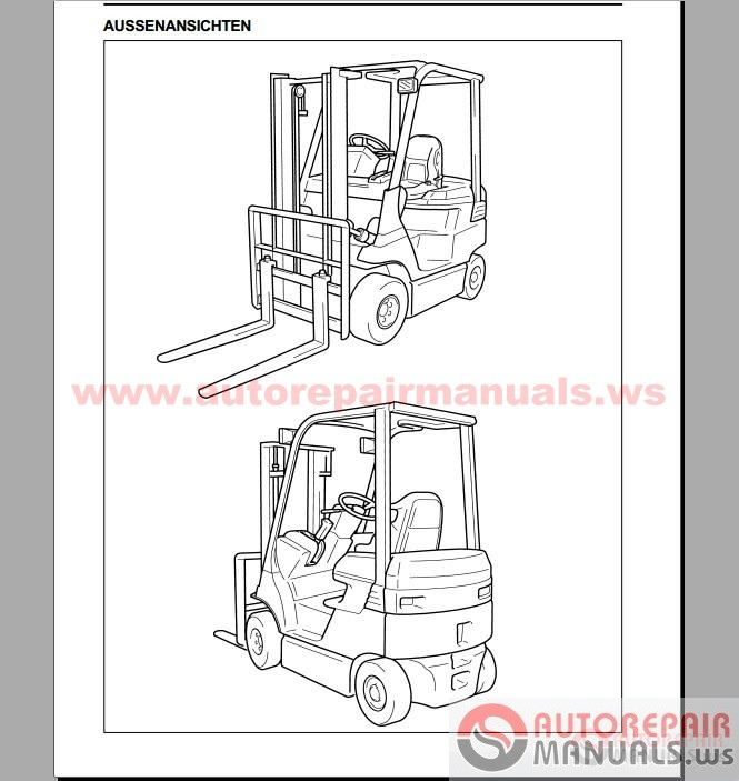 Free Auto Repair Manual : Toyota Forklift, Industrial