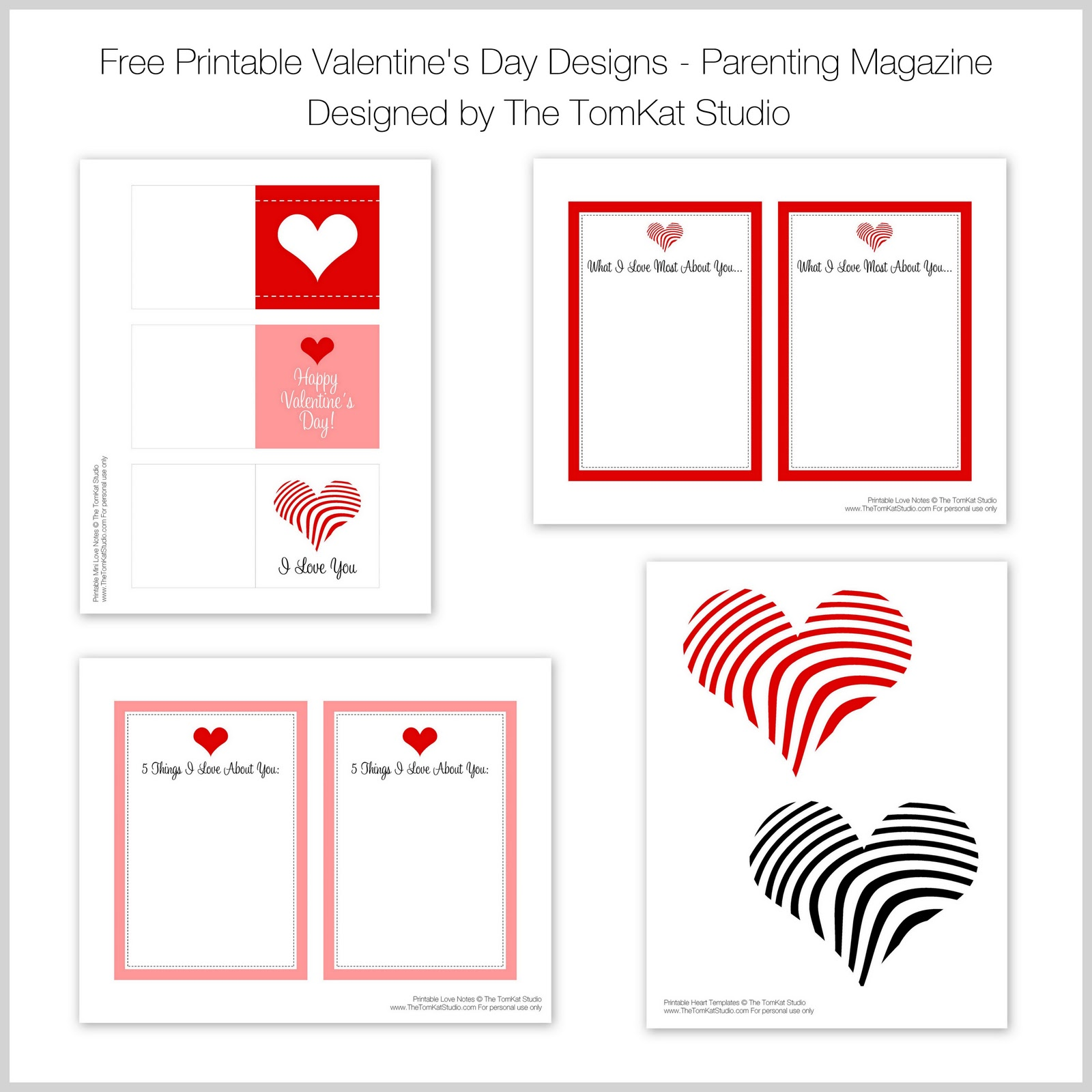 The Tomkat Studio Valentine S Day Parenting Magazine Mention Amp Free Printable Designs