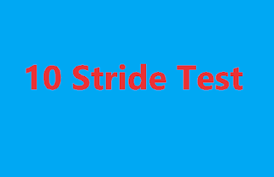 10 Stride Test to Measure Standing Start Acceleration