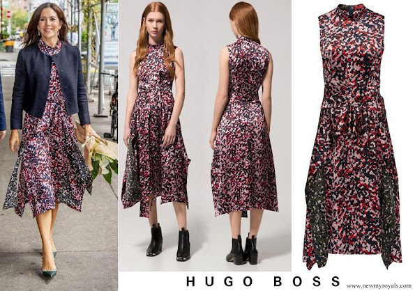 Crown Princess Mary Hugo Boss Kestani Midi length dress