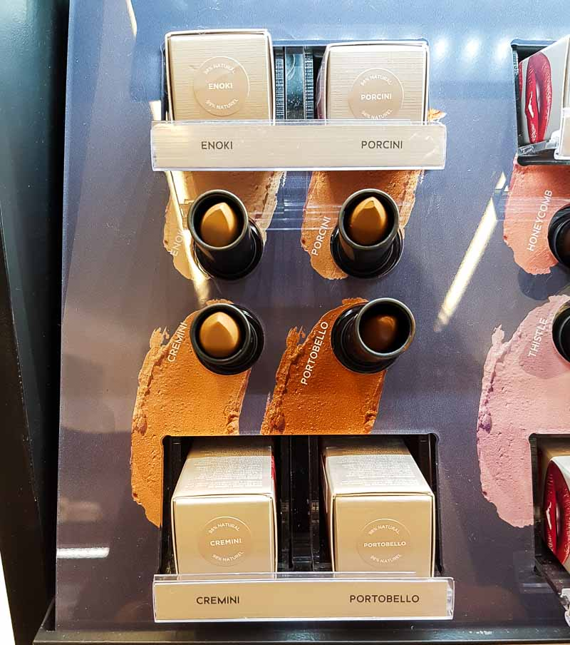 Bite Beauty Edgy Neutrals Amuse Bouche Lipsticks - Swatches - Enoki Porcini Portobello Cremini