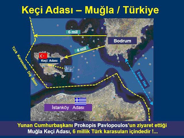 δημοσίευμα - τουρκική πρόκληση - Ψέριμος - χάρτης