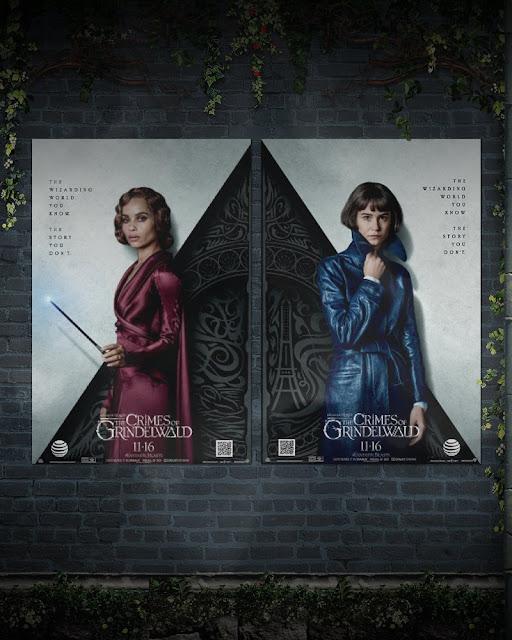 Pôster AT&T de 'Os Crimes de Grindelwald' | Leta e Tina | Ordem da Fênix Brasileira