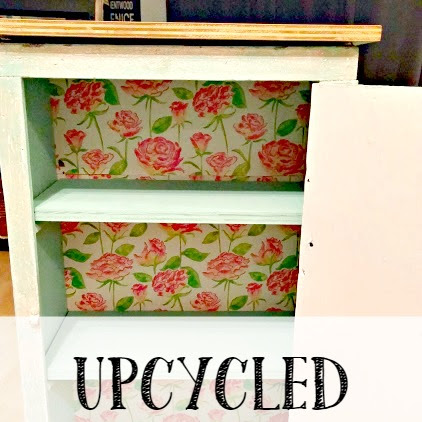 Before and After - Upcycled Kitchen Cabinet