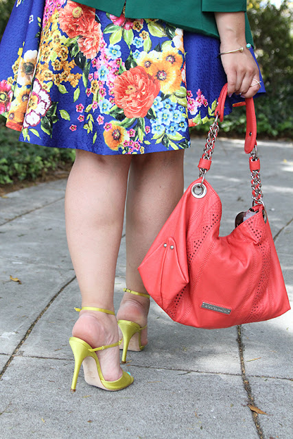 Yellow Satin Manolo Blahnik Coral BCBG Generation Hobo Bag