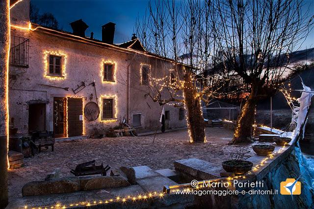 Mulino del Trotto illuminato per Natale
