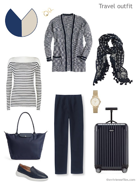 navy travel outfit