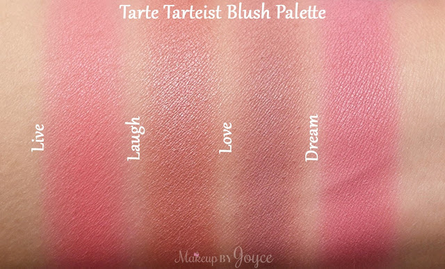 Tarte Tarteist Blush Palette Limited Edition Summer 2016 Swatches
