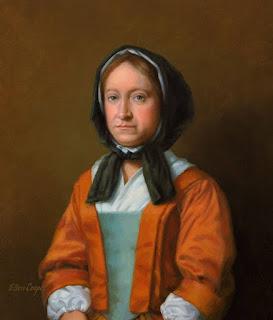 Painting of Hannah Penn by Ellen Cooper