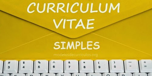Curriculum Vitae Para Preencher Simples Modelos De Curriculos