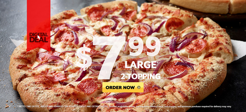 Pizza Hut Large Pizza Size >> News: Pizza Hut - Online-Only $7.99 Large, 2-Topping Pizza | Brand Eating