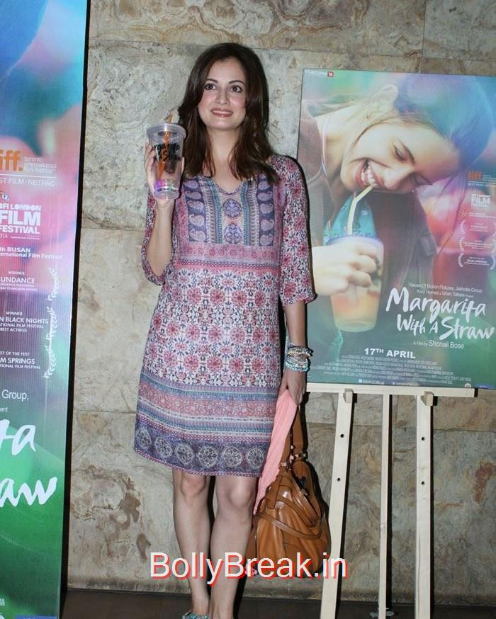 Dia Mirza, Hot HD Pics of Dia Mirza, Huma Qureshi At 'Margarita With A Straw' Special Screening