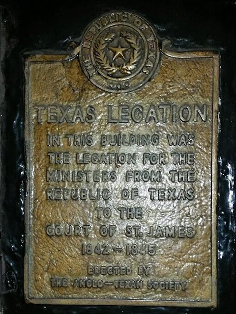 Texas Legation Plaque, London