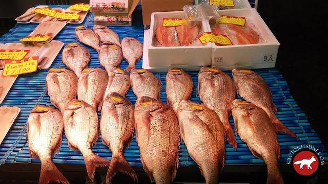 Dorade japonaise au marché de Kyoto