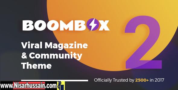 BoomBox v2.1 — Viral & Buzz WordPress Premium Theme