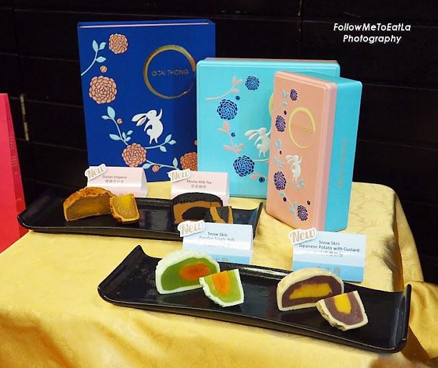 New Flavours Snow Skin Mooncakes                         Snow Skin Japanese Potato with Custard 冰皮紫薯奶皇 Snow Skin Pandan Single Yolk 冰皮翡翠單黃