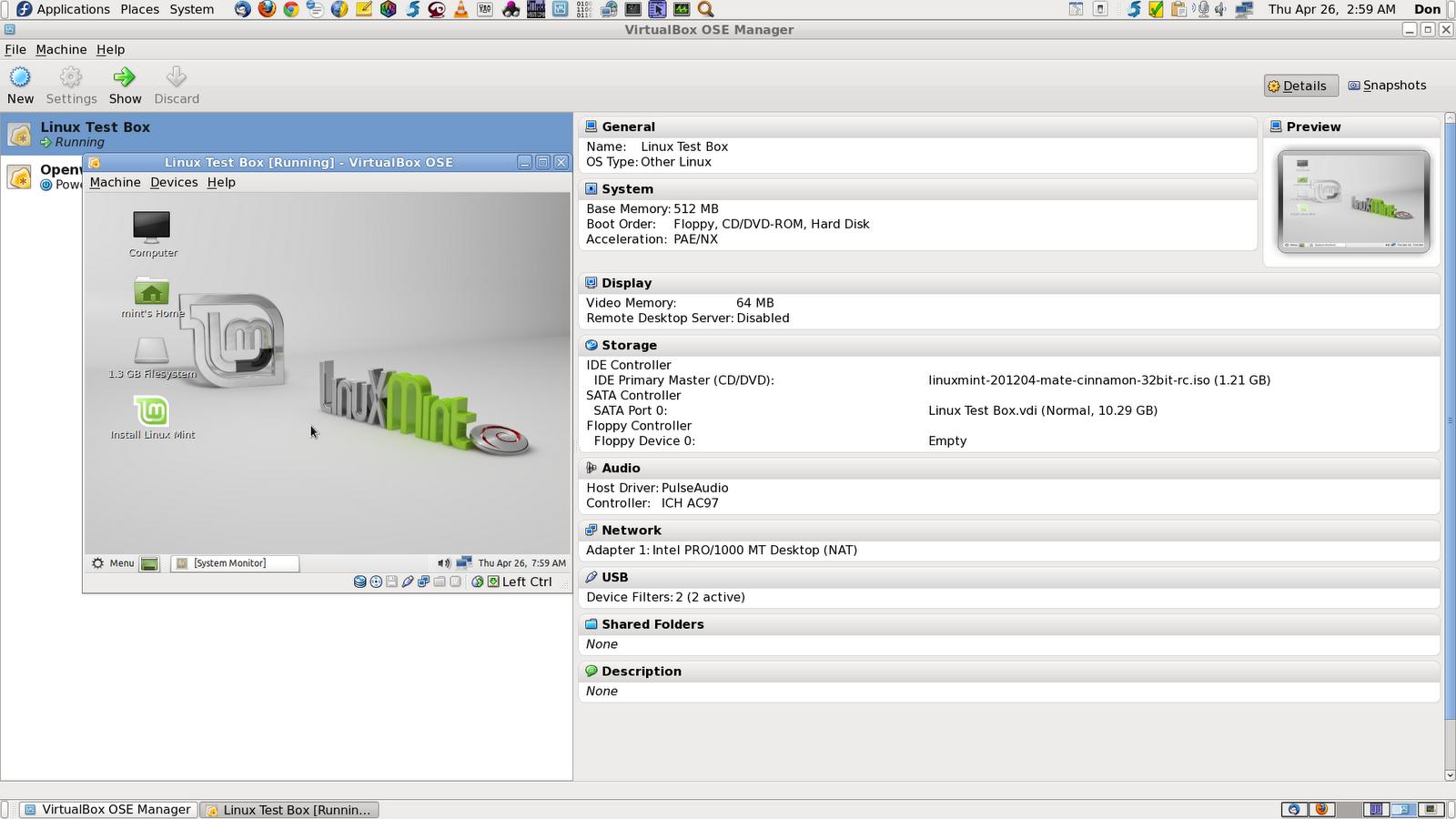 DonsDeals Blog: Linux Mint Debian 201204 RC (MATE/Cinnamon