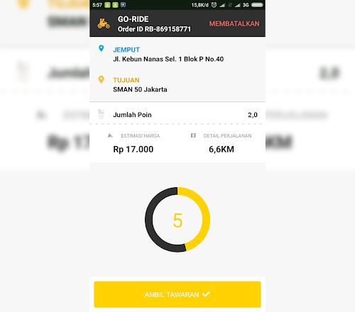 MOD Gojek Driver V3.2.0 GACOR PARAH