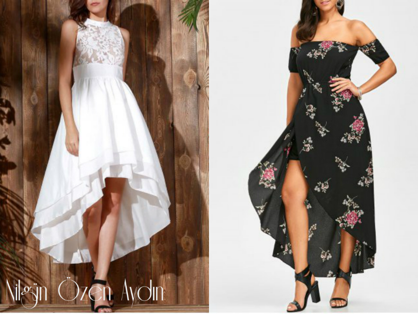 alışveriş-Plus Size Lace Dress and Asymmetrical Dress-asimetrik elbise-büyük beden dantel elbise