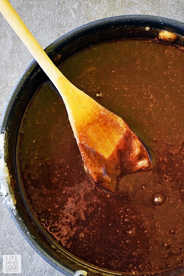 Making salted chocolate caramel bars