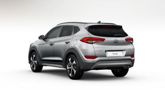 colori Nuova Hyundai Tucson 2016 Argento/Grigio Chiaro - Platinum Silver retro dietro posteriore