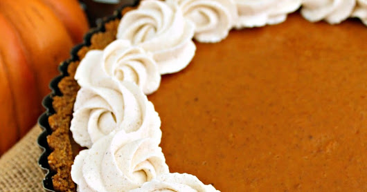 Pumpkin Tart with Pumpkin Spiced Whipped Cream #PumpkinWeek