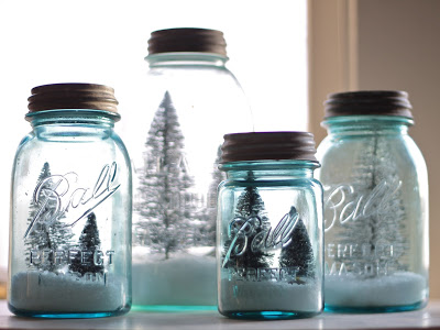 Old Ball Canning Jars for Christmas