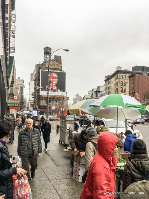 ambiente callejero chinatown nueva york