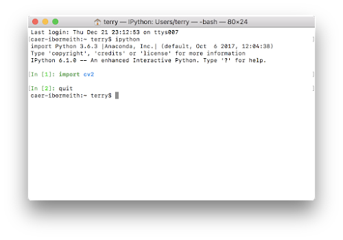 install cv2 python 2.7 mac